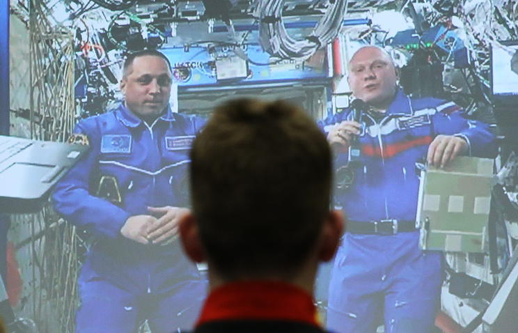 Космонавты МКС провели урок географии для студентов Казанского федерального университета