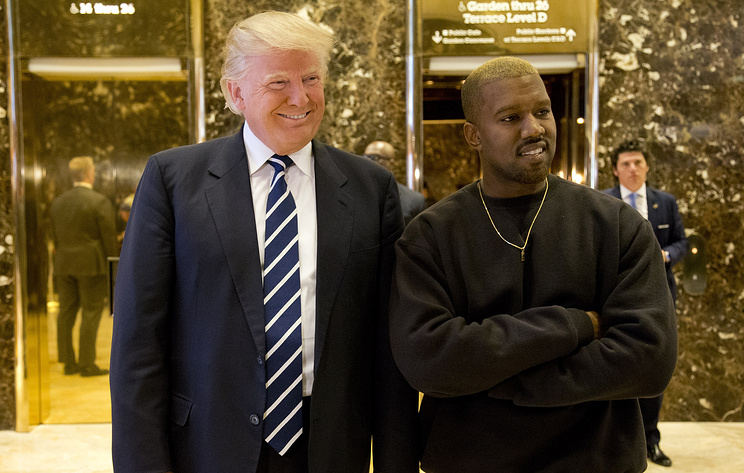 Дональд Трамп поблагодарил рэпера Канье Уэста за поддержку