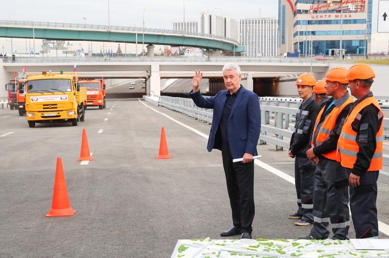 Собянин открыл участок Северо-Восточной хорды от Щелковского до Открытого шоссе